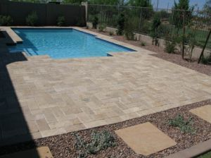 Sunny Beige Limestone Tile for Swimming Pool Edge and Patio Paver Stone