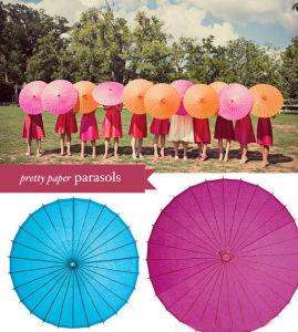 Wedding Favor Colored Chinese Paper Parasols