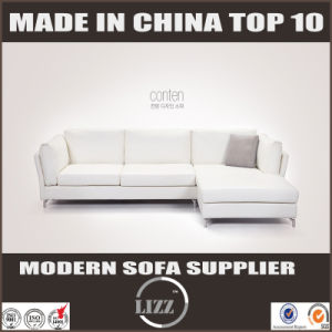 2017 Modern Home Furniture L Shaped Leather Down Sofa pictures & photos