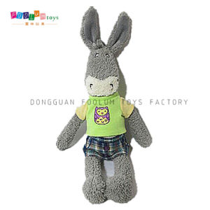 (FL-069) Fashion Plush & Stuffed Donkey with Clothes Children Soft Toy