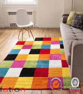 New Style Modern Shaggy Designs Polyester Area Rugs