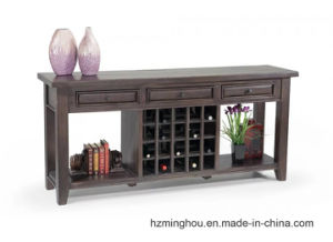 High End Vintage Solid Wood Cabinet with Wine Storage Furniture