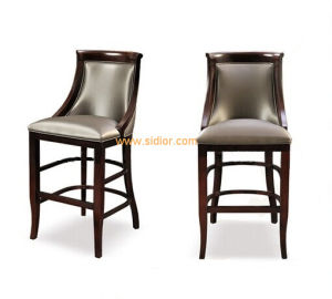 (CL-4402) Antique Hotel Lounge Furniture with Wooden Counter Bar Stool