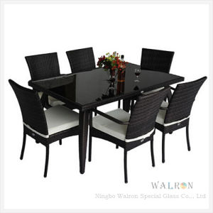 China Square Shape Black Color Dining Table With Toughened Tempered Glass China Table Top Glass Coffee Table Glass