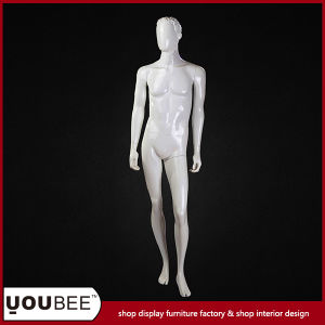 Young Male Fiberglass Mannequin with Sided Head and Egg Face