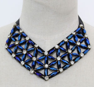 Lady Geometric Crystal Costume Jewelry Choker Fashion Necklace (JE0169) pictures & photos