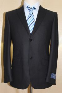 Black Wedding Suit, Men′s Fahsion Itlay Wool Suit, Business Formal Suit