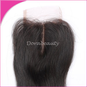 Brazilian Unprocessed Straight Lace Closure Human Hair pictures & photos