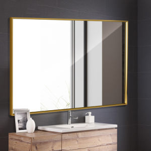 Modern Style Large Gold Framed Mirror, Large Gold Frame Bathroom Mirror
