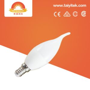 Ce RoHS E14 Dimmable LED Plastic Candle Light Bulb