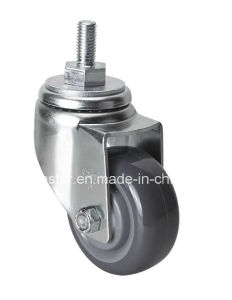 "Edl Medium 3"" 130kg Threaded Swivel PU Caster 5033-75"