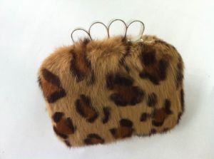 Italy Design Real Rabbit Fur Ladies Clutch (F0873)