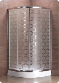 Lantern Acid Etched Glass Shower Enclosure Stylish Acid Shower Enclosures pictures & photos