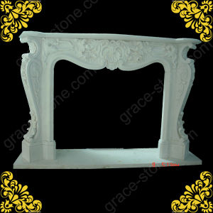 Hunan White Marble Fireplace Mantel with French Style pictures & photos
