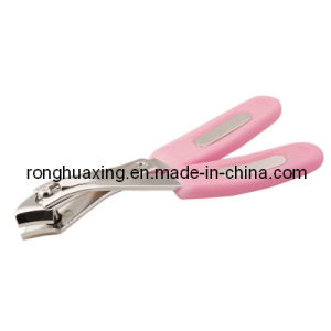 Side Nail Clipper with Plastic Grooved Handle N-312 pictures & photos