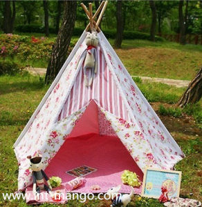Wooden Pole Kids Playing Tent with 100% Cotton (MW6017) pictures & photos