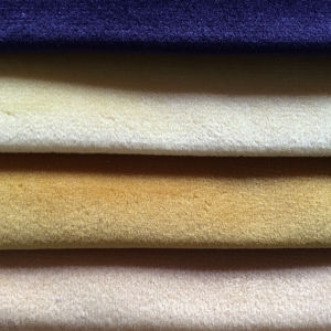 Home Textile Glossy Velour Fabric