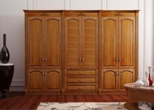China Custom Made Cheap America Wooden Bedroom Wardrobe Designs