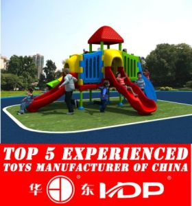 Plastic Playground Slides for Kids Used Outdoor Playground Equipment (HD14-125C) pictures & photos