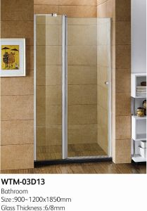 Top Quality Hinge Shower Door Wall to Wall Wtm-03D13 pictures & photos