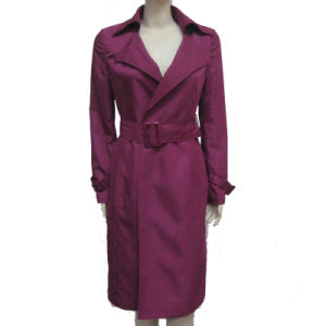 Lady Fashion Long Trench Coat (CHNL-CT002)