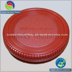 Plastic Cover Parts Injection Molding for Dust Cap Lens (PL18010) pictures & photos