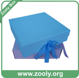 Baby Blue / Baby Pink Foldable Cardboard Paper Keepsake Box pictures & photos