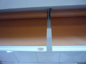 Fire Resistant Fabric Roller Blind Beige For Windows Outside