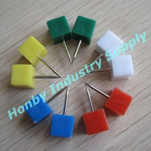 Gorgeous Assorted Color Plastic Square Shape Push Pin