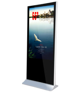 55-Inch LCD Advertising Player Floor Standing with Right Angle, Digital Signage pictures & photos