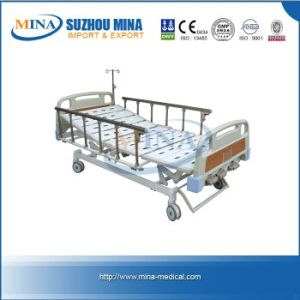 Luxurious Manual Patient Hospital Bed with Three Revolving Levers (MINA-MB106-A)