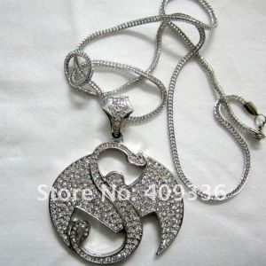 Zinc Alloy Iced out Strange Music Bling Pendant Hiphop Necklace with Fully Rhinestones Fashion! Welcome Customize!