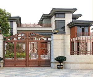 High-Quality Exterior Door & Security Sliding Wrought Iron Fence Gate pictures & photos