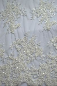 New Model Fashion Design Rayon And Polyester Material Bridal Lace Fabric