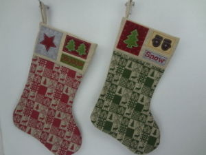 wholesale burlap material colourful stocking christmas decoration - Burlap Christmas Decorations Wholesale