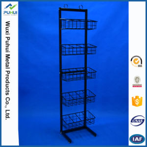 6 Tier Adjustable Wire Basket Rack (PHY323) pictures & photos