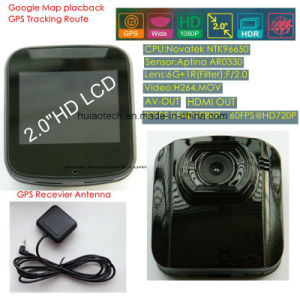 "2.0"" Google GPS Map Play Back GPS Tracking Route Car DVR with 5.0mega Car Digtial Video Recorder, Dash Camera, H264, HDMI out, Car Black Box DVR-2001g pictures & photos"