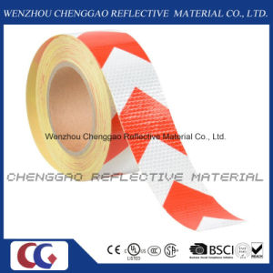 PVC High Quality White & Red Warning Arrow Reflective Tape (C3500-AW) pictures & photos