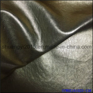 Metallic Colorfur PU Leather Garments Material pictures & photos