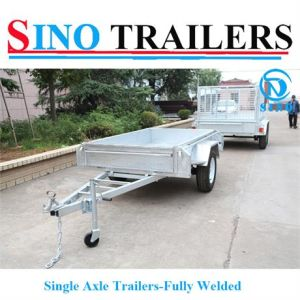2016 Australia Hot Sales! ! ! High Quality Single Axle Heavy Duty Fully Welded Box Trailer