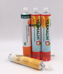 Food Packaging Silicone Sealant Aluminum Collapsible Tube Manufacturer / Factory pictures & photos