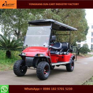 Customized 6 Seater Electric Golf Cart (Folding windshield \Rear flip seats\Sun shade can be chossed)