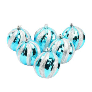 8 Cm Electroplating Christmas Balls, Watermelon Shape Colors