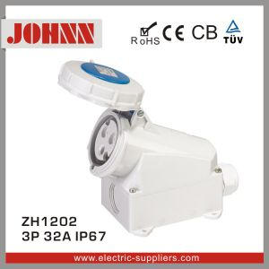 IP67 3p 32A Surface Mounted Socket for Industrial pictures & photos
