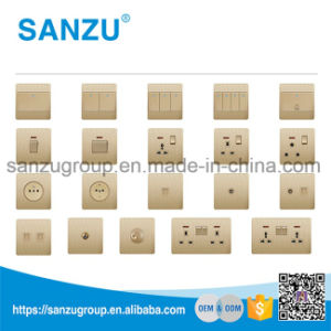 UK Standard Wall Socket 10A 2 Gang Switch pictures & photos