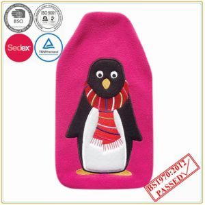 Hot Water Bottle with Pengium Embriodery Fleece Cover pictures & photos