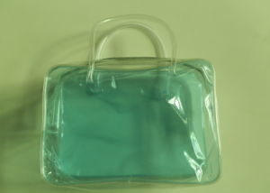 OEM Recyclable Transparent PVC Zipper Shopping Bag