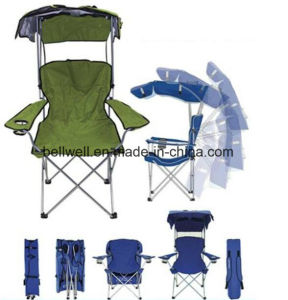 Sun Umbrella Handrail Beach Chair Portable Folding Outdoor Children Camping