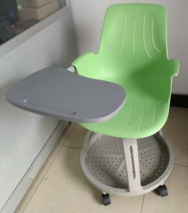 Adjustable Steelcase Plastic School Training Chair with Writing Pad (SF-50F) pictures & photos