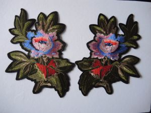 New Design Hot Fix Embroidery Flower Shape Custom 3D Embroidery Patch